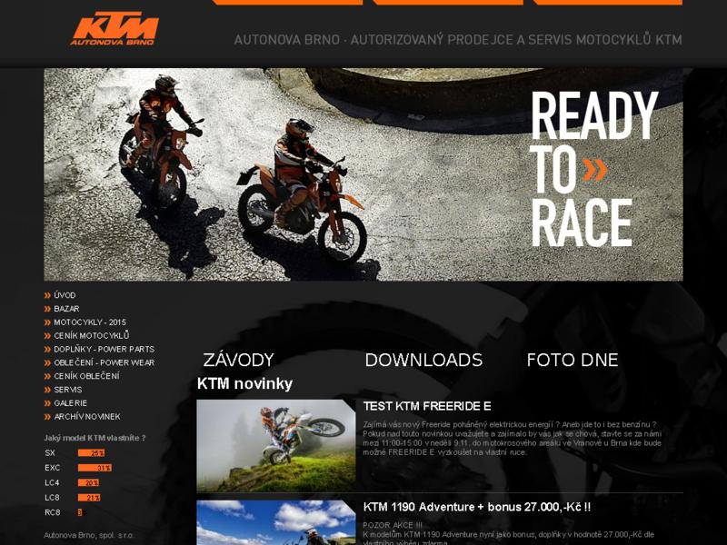 Web KTM Autonova Brno